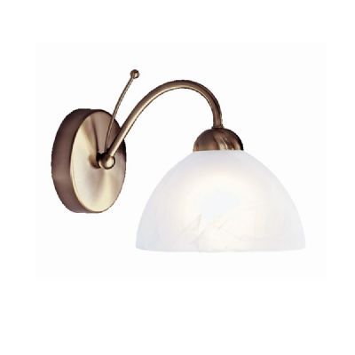 Milanese Single Wall Light in an Antique Brass Finish - SEARCHLIGHT 1131-1AB